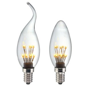 E14 Edision Light 1.5W Star Starry Sky LED Firework Filament Retro Decor Christmas Light Bulb 220V