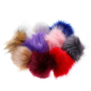10Pcs/Set 12CM/4.72 Inch Faux Fox Fur Fluff Balls for Knitted Hat Accessories Key Chain Scarf DIY Pendant Accessories