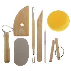 8 Stk trä keramik lera keramik gjutning snidning skulptureringsverktyg
