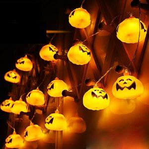 2,7 M 16 LED Halloween Pumpkin String Lights LED Fairy Lights for Festival Christmas Halloween