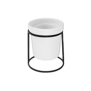 Hem Trädgårdsskötsel Keramik Blomkruka Metall Rack Garden Plant Saftiga Hållare Vase Dekorationer