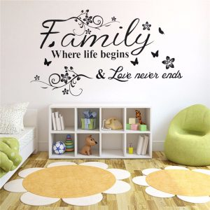 Family Love Tree Quotes Wall Sticker Art Living Room Removable Decals Home Decor