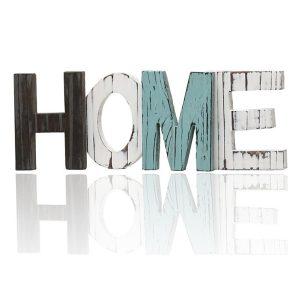 Retro Wood Sign HOME Decorative Ornament Cutout Wood Words Home Multicolors Decorations