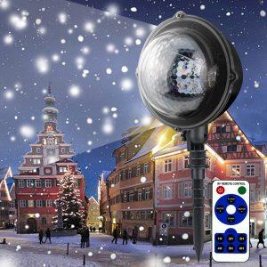 5W Moving Snowflake Snow LED Mini-projektor Ljusjusterbar vattentät lampa