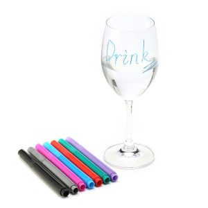 KCASA KC-CB13 Reusable Washable Non-toxic Wine Glass Maker Pen Wine Charm Accessories Bar Tools