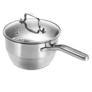 18cm rostfritt stål ångkokare Induktion Kompatibel ångare Rack Mjölkgryta Köksartiklar