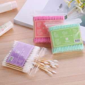 100pcs/ Pack Double Head Cotton Swab Disposable Women Makeup Cotton Buds Tip For Medical Wooden Sticks Ears Clean Health Care Tools