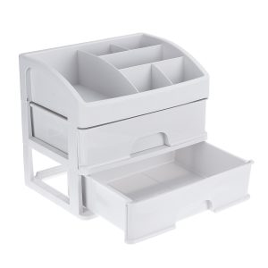 1/2/3 Layers Desktop Makeup Drawer Organizer Clear Cosmetic Storage Box Container Make Up Storage
