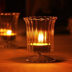 Koppglas Ljusstake Candelabrum Ljusstake Ljus Ljus Middag Hem Bröllop Dekor Present