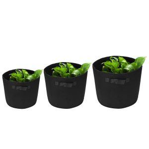 1-30 Gallon 600GSM Fabric Felt Pots Garden Seedling Bags Planter Grow Bag Pouch Container Plant Bag
