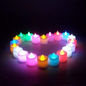 1 Pcs Led Light Candle Flameless Colorful Tea Candle Lamp Electronic Candle Party Wedding Decor