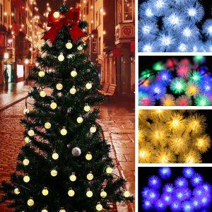 30 LED solkraft jul fe stränglampor utomhus uteplats dekor lampa kreativt ljus