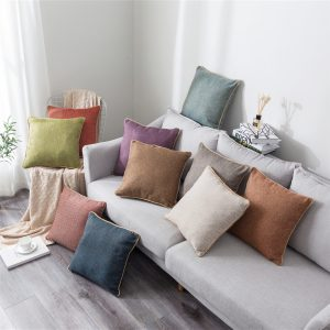45X45CM Linen Throw Pillow Case Cushion Cover Seat Sofa Waist Case Home Bedroom Decor