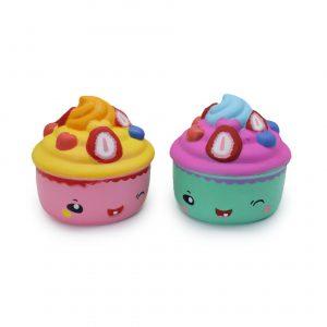 Slow Rebound PU SqueezeToys Simulation Cartoon Donut Cake Ice Creams Pressure Release Squishy Toys Color Random
