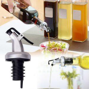Olivoliesprutare Vinäger Tätning Läcksäker Låsplugg Flaskor Täcker ABS Matkvalitet Plastmunstycke Sprej Vätskedispenser Flaskstoppare
