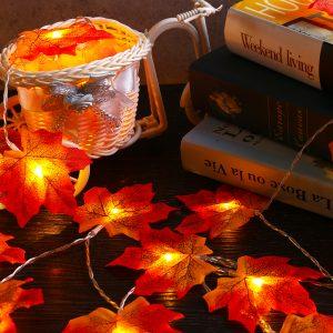3M 30 LED Christmas Light Fall Maple Fairy String Light Autumn Leaf Lamp Garland Xmas Decor Gift