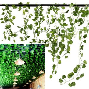 5 Types 2.1M 1PC Artificial Silk Fake Garden Hanging Plant Vine Wedding Decor