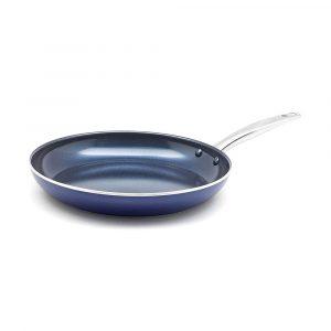 Blue Diamond Pan Toxin Free Ceramic Pan Nonstick Metal Utensil Open Staking Pan Non-stick Pot 20/24 CM