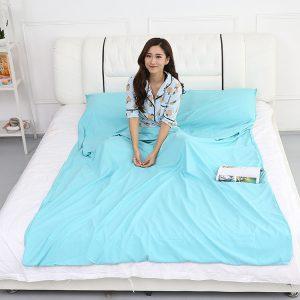 Honana WX-B36 Outdoor Sleeping Bag Liner Pongee Portable Camping Travel Sleeping Bag Bed Mattress Sheet
