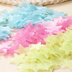3cm 100PCS Colorful Fluorescent Glow Star Wall Sticker