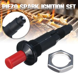 Piezo Spark Ignition Set Cable Push Button Igniter Fit Gas BBQ Grill