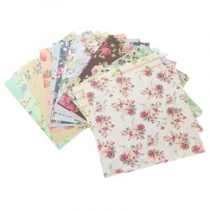 KiWarm 24Sheets 15x15cm Assorted Floral Folding Paper Origami Art Background Paper Card Making DIY Scrapbook Paper Craft Paper Art