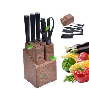 Rostfritt stålkniv Uppsättning av kökknivar Presentkockknivar 6 styck kött Frukt Grönsak Anti-S