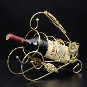Retro Wine Champange Bottle Rack Holder Wine Accessaries Home Decoration