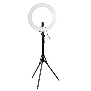 18'' 5500K 55W Fill Light Dimmable LED Ring Tripod Camera Selfie LED Lamp Adjustable