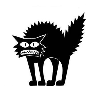 Creative Halloween Thriller Cat PVC Vattentät väggklistermärke Avtagbar Vinyl Konst Väggdekor Dekoration Klistermärken Miljöskydd Halloween Väggklistermärke Fönster Heminredning Dekor Dekor