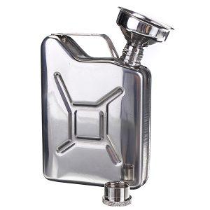 Bärbar 5 oz rostfritt stål Mini Hip Flask Liquor Whisky Pocket Flaska med tratt