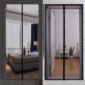 Mosquito Door Curtains Net Mesh Screen Bug Fly Pet Patio Hands Insect Proof Door Net