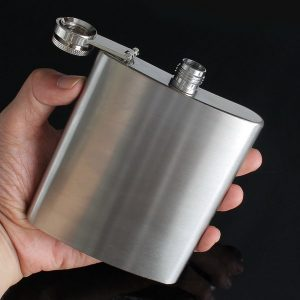 7oz Stainless Liquor flagon Retro Rum Whiskey Alcohol Pocket Flask with Funnel