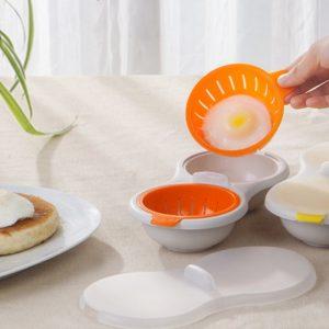 Särskild dubbelugn ångade äggpannor mikrovågsugn användbar äggpanna bakning stekt kök kock ägg verktygslåda