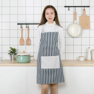 Modern Simple Style Hot Sale High Quality Cotton Women Aprons Adjustable Sleeveless Cooking Work Aprons Kitchen Apron