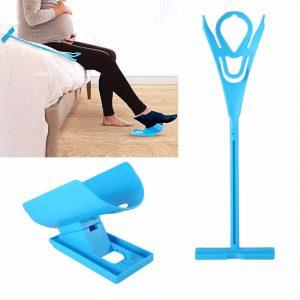 Easy On Off Sock Aid Kit Sock Helper Ingen böjning Stretching för graviditet och skador Living Tool