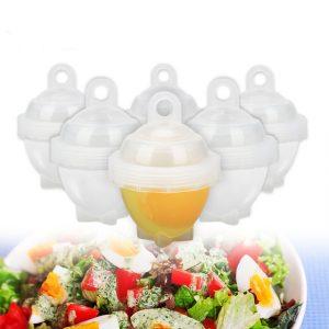 7Pcs / Set Hard Boil Egg Cooker 6 Egg Boilor Without Shells With Bonus Egg White Separator Eggs Steamer Egg Boiler Cooker Cooking Tools