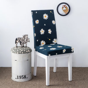 Elegant Flower Landscape Elastic Stretch Chair Seat Covers Dining Room Home Wedding Decor