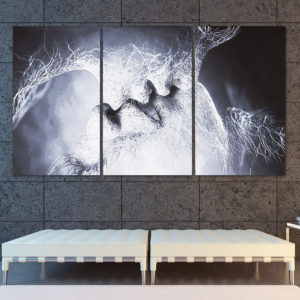 3st Love Kiss Abstrakt Canvas Print målningar Bilder Wall Wall Decor Unframed