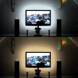 1M 220V LED Strip Light Lamp Christmas Desk Home Decor Lamp Tape TV Background Decorative Lighting