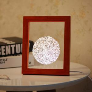 KCASA FL-718 3D Photo Frame Illuminative LED Night Light Wooden Auspicious Pattern Desktop Decorative USB Lamp For Bedroom Art Decor Christmas Gifts