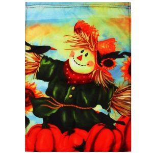 12'' x 18'' Autumn Black Crow Pumpkins Scarecrow & Sunflower Fall Garden Flag Decorations