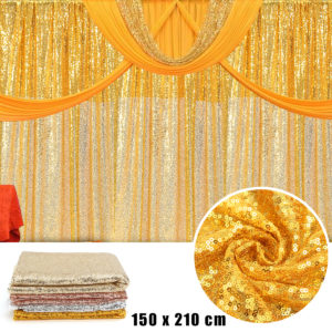 59''x82'' Sequin Table Cloth Curtains Wedding Party Decor Photography Background