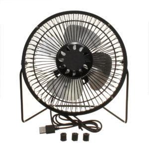 Portable 7 Inch Mini USB Fan Super Mute Laptop PC Cooler Cooling Desktop Fans
