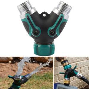 3/4 tum trädgårdsslang 2-vägs splitterventil vattenrör krananslutning USA standardgänga