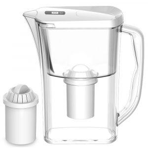AUGIENB 10 koppar / 3,2L vattenkanna Rengöringsfilter Ta bort klorluktflaskor