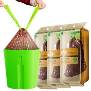 22Kg Biodegradable Garbage Trash Bag Home Kitchen Dustbin Bin Drawstring SolidBag Degradable Portable