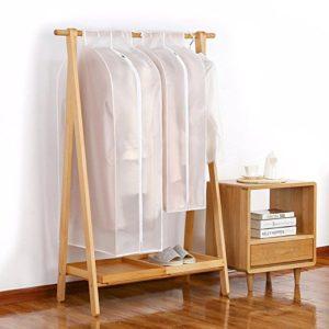 3D Garment Suit Coat Dustproof Cover Protector Wardrobe Storage Bag Breathable Semitransparent Hanging Clothes Storage Bag for Coat Dress Windcoat Closet Organizer