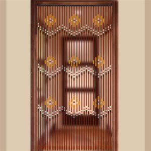 90x220cm 31 linjer träpärlad gardiner flueskärm veranda för sovrum vardagsrum badrum