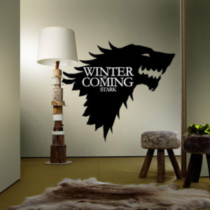 T-5 Game Of Thrones  Stark Family  Emblem Ice Wolf Wall Stickers Engraved Wall Stickers
